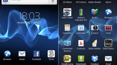 Sony Xperia S UI