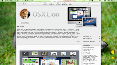 Lion is the first OS X update that is distributed exclusively through the App Store.