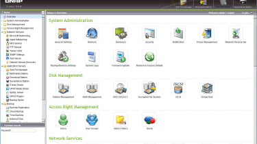 QNap's web interface is well-designed and provides easy access to the myriad features.