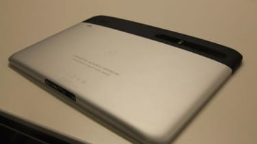 A silver variant of the Motorola Xoom