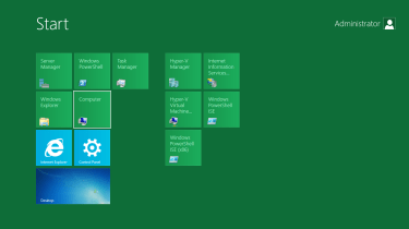 Windows Server 8 gets a Metro-style Start screen, just like the client version.