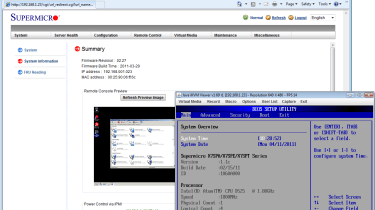 Each server node has an embedded management controller and provides KVM-over-IP remote control as a standard feature.
