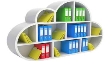 Cloud storage bookcase