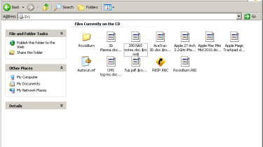 The names of protected files on an encrypted disc can still be seen in Windows Explorer