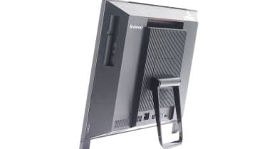 The ThinkCentre Edge 91z's easel-like stand doesn't lend itself to easy tilting and swivelling.