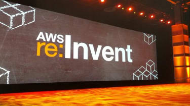 AWS Re:Invent keynote stage