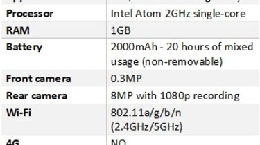 Motorola Razr i specifications