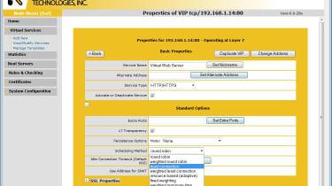Kemp Technologies - Load balancing schedules