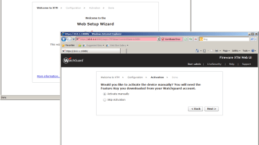 The new web interface opens with a quick start wizard which includes an option to activate all features.