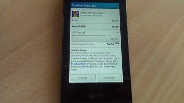 BB10 App purchase