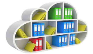Cloud storage bookcase