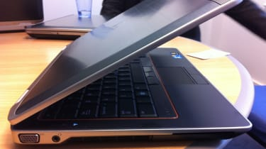 The magnesium alloy strip that runs around the edge of the Dell Latitude E6320