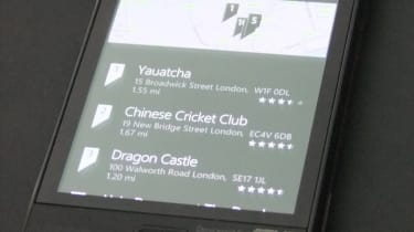 The Bing Local Scout feature in Windows Phone Mango
