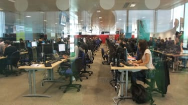 The Technology Operations Center or TOC – the mission control for all the Acer computers deployed at the Olympic venues.