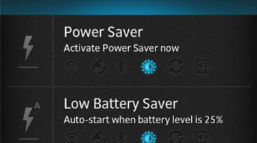 Sony Xperia S power saver