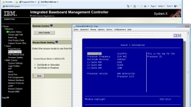 IBM's IMM management chip has KVM-over-IP remote control as one of its many useful features.