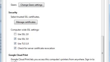 Enabling Google Cloud Print step 1