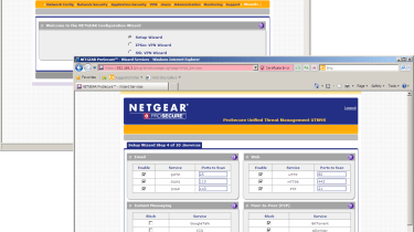 Installation gets off to a flying start with Netgear's ten-step wizard helping to set the appliance up.