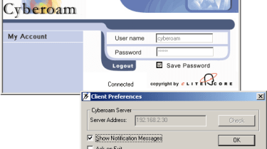 Cyberoam's Corporate Client can be used to authenticate users with the appliance.