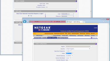 Both the ADSL and wireless expansion modules are configured from the appliance's main web interface.