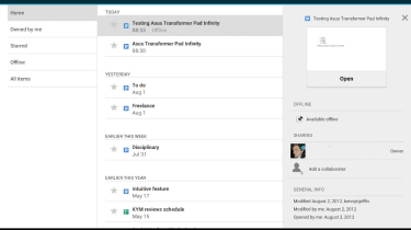 Asus Transformer Pad infinity 700 - Google Drive