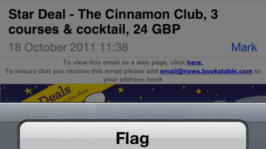 Email messages can now be flagged, albeit with only one colour.