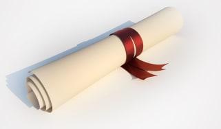 Graduation scroll