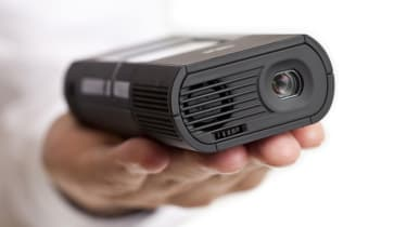 The 3M MP180 is considerably larger and heavier than most pocket projectors.