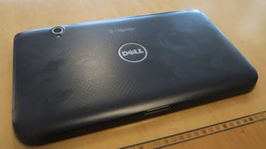 The textured rear of the Dell Streak 7