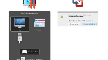 Connect a USB device to the Mac and the applications ask which machine it's for use with — Parallels Desktop 7 uses a much cl