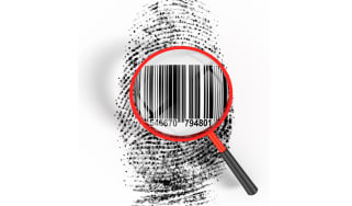 Fingerprint and barcode