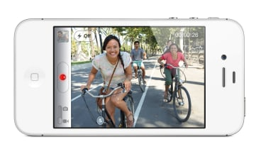 The eight megapixel camera on the iPhone 4S can also record 1080p HD video.