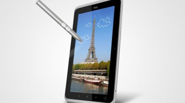 The HTC Flyer with its stylus