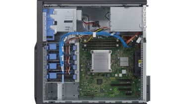 The interior of the Dell PowerEdge T110 II.