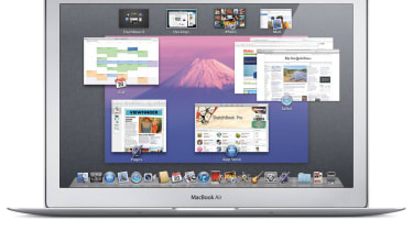 The Mission Control feature in MacOS X 10.7 Lion
