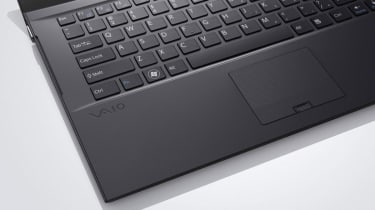 The keyboard and touchpad of the 2011 Sony Vaio Z