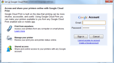 Enabling Google Cloud Print step 2
