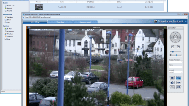 Surveillance Station 5 has very good IP camera support, provides motion detection and can record directly to the appliance.