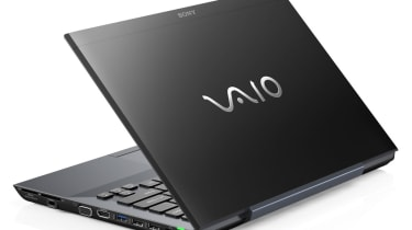 The right-hand side ports and lid of the Sony Vaio SB1