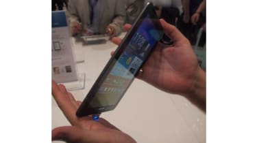 The Samsung Galaxy Tab 7.7 is very thin.