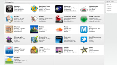 The categories in the Mac App Store