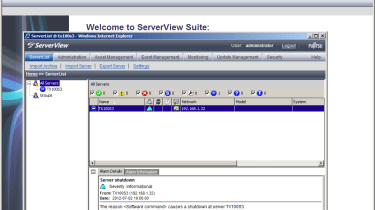Fujitsu Primergy TX100 - ServerView Suite software