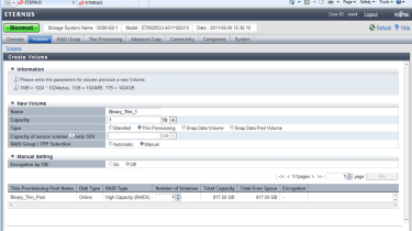 Thin provisioning has been missing from the Eternus arrays for too long, but is now an optional feature.