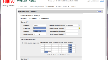 Fujitsu CS800 - Bonding Gigabit data ports