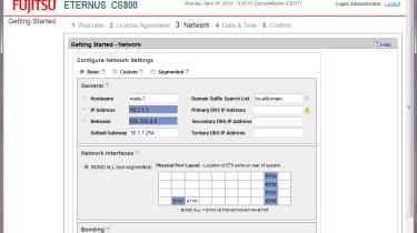 Fujitsu CS800 - Bonding Gigabit data ports