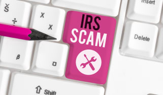 """IRS"" scam written on a keyboard"