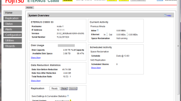 Fujitsu CS800 - Data reduction ratio