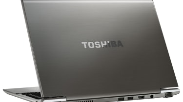 The ports on the rear of the Toshiba Satellite Z830.