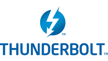 The Intel/Apple Thunderbolt logo