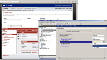 The NAC and SafeGuard components steepen the learning curve as they each have their own policy management consoles.